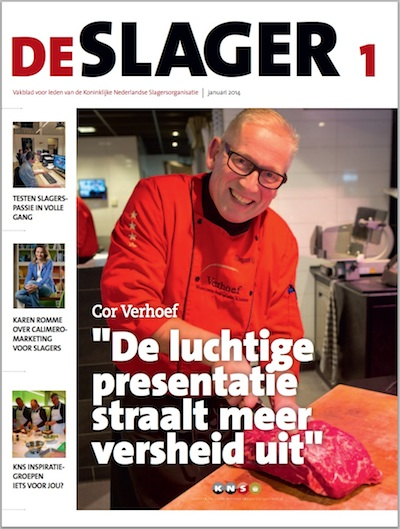 Voorkant vakblad De Slager 400pix