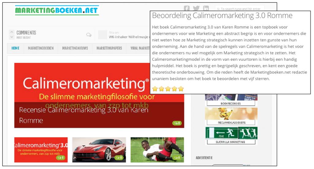 Recensie Calimeromarketing 3.0 op Marketingboeken.net