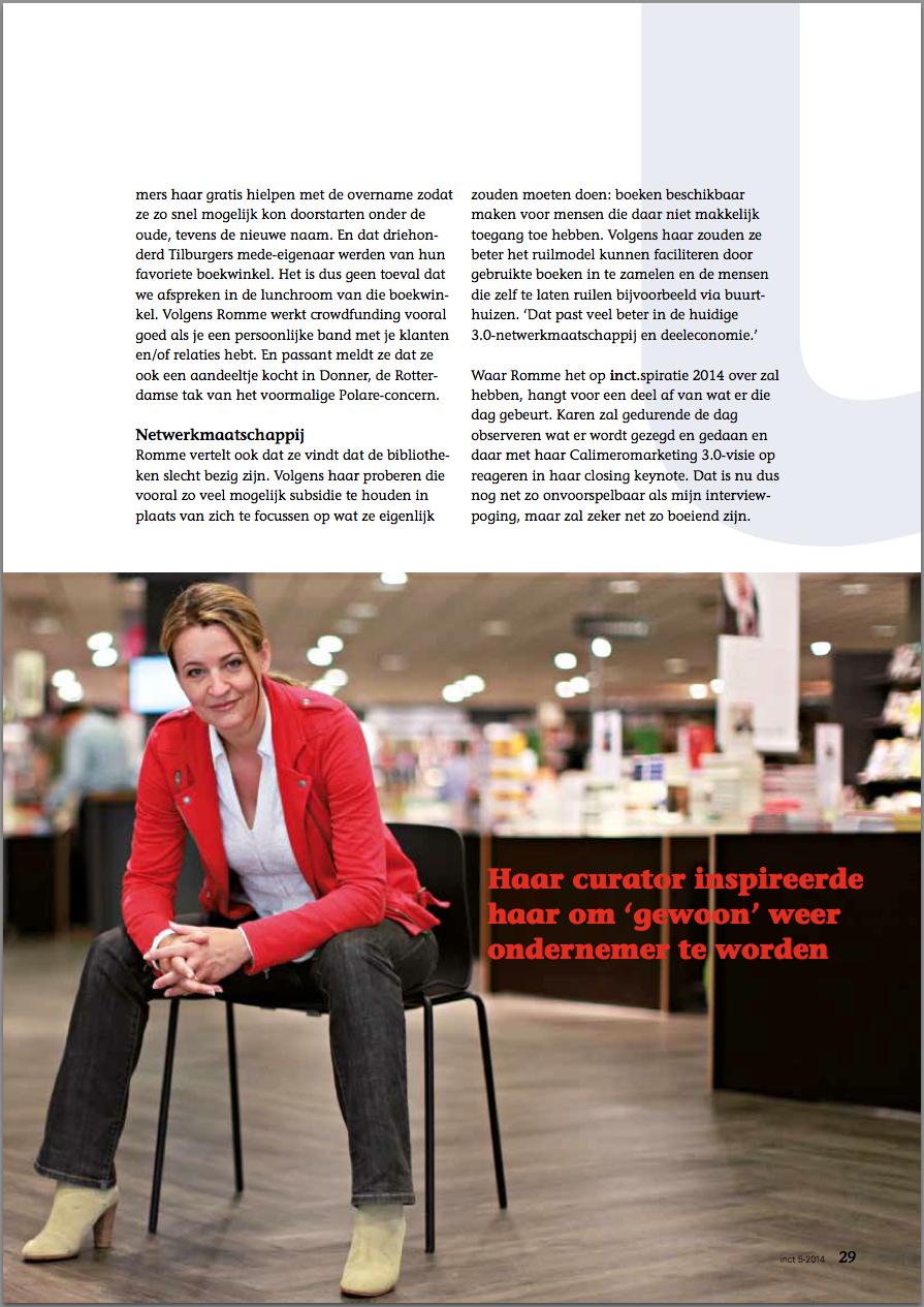 Calimero en het boekenvak in inct.magazine tekst david huijzer foto Anna Green pagina 2