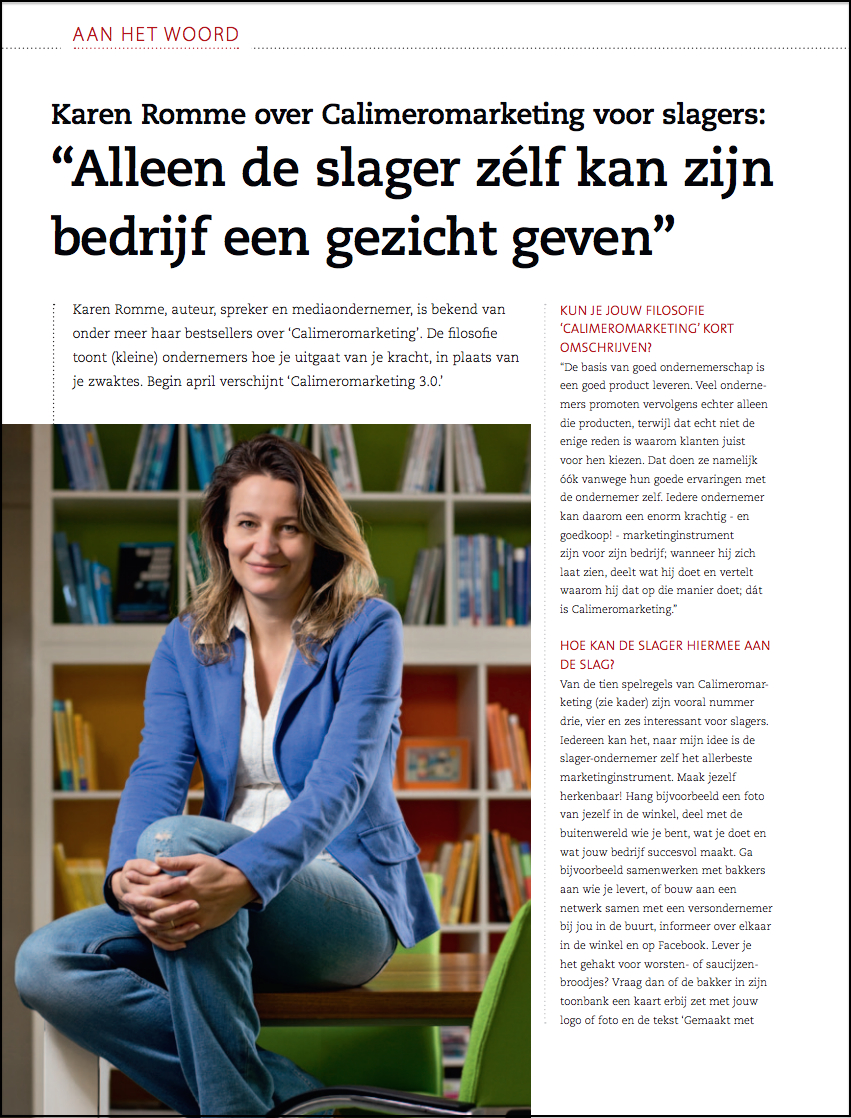 Karen Romme over Calimeromarketing voor slagers pagina 16