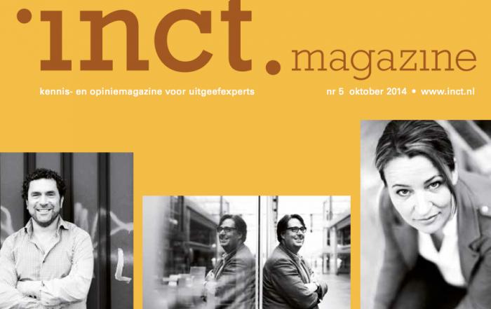 cover inct.magazine oktober 2014 over inct.spiratie waar Karen Romme  de closing keynote deed